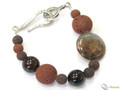 925 Sterling Silver Red Sea Gemstone Bracelet