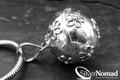 925 Sterling Silver Bali Flower Dream Ball Pendant