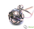 925 Sterling Silver Big Filigree Dream Ball Pendant