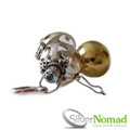 925 Sterling Silver Gem Bali Harmony Ball Pendant