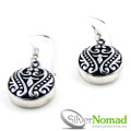 Silver Nomad Bali Scroll Earrings