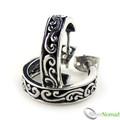 925 Sterling Silver Bali Temple Hoop Earrings