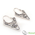 925 Sterling Silver Balinese Ayu Scroll Earrings