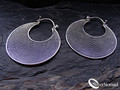 925 Sterling Silver Fine Bali Rope Hoop Earrings