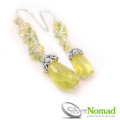 925 Sterling Silver Nomad Peridot Earrings