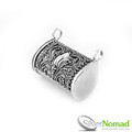 925 Sterling Silver Balinese Opening Locket with Filigree Detailing.
