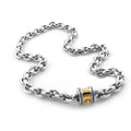 925 Sterling Silver Chunky Oval Link Necklace