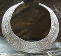925 Sterling Silver Layered Torque Choker