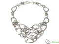 925 Sterling Silver Layered Triangle Necklace