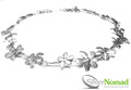 Contemporary Flower Necklace by Silver Nomad Jewellery UK
