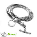 925 Sterling Silver Nomad Rounded Snake Weave Necklace