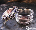 925 Sterling Silver Bali Breeze Toe Ring Set (2)