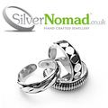 Hand crafted Balinese toe ring set made from sterling silver.