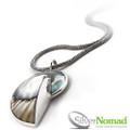 Silver Nomad Nautlius Shell Beach Pendant
