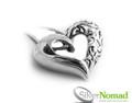 Silver Nomad Filigree Heart Pendant.