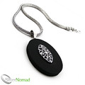 925 Sterling Silver Balinese Scroll Lava Pendant