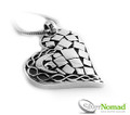 Silver Nomad Abstract Heart Silver Pendant.