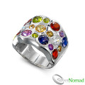 925 Sterling Silver Multi Gemstone Ring