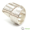 925 Sterling Silver Contemporary Wrap Band
