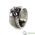925 Sterling Silver Designer Flower Ring