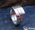 925 Sterling Silver Polished Wrap Around Ring