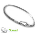 925 Sterling Silver Snake Bracelet for Charms