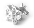 925 Sterling Silver Bull Charm
