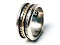 Silver Nomad Designer Revolving Ring Wholesale - RG328