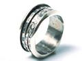 Silver Nomad Designer Revolving Ring Wholesale - RG331