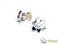 Silver Nomad Designer Earrings Wholesale - EG665