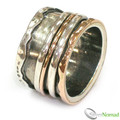 925 Sterling Silver Edged Revolving Ring