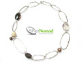 Silver Nomad Designer Necklace Wholesale - NK1823