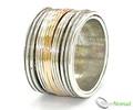 925 Sterling Silver Multi Revolving Ring