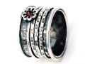 Silver Nomad Designer Revolving Ring Wholesale - RG369