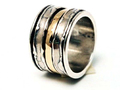 Silver Nomad Designer Revolving Ring Wholesale - RG420