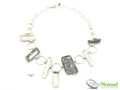 Silver Nomad Designer Necklace Wholesale - NK2213