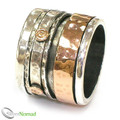 Luxury Wide Revolving Ring with 9ct Gold