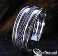 925 Sterling Silver Nomad Celtic Cuff Bangle