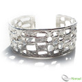 925 Sterling Silver Nomad Designer Cuff Bangle