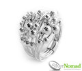 Silver Nomad Jewellery Sphere Cluster Ring.