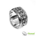 925 Sterling Silver Balinese Twin Eternal Ring