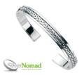 Silver Nomad Eternal Weave Bangle