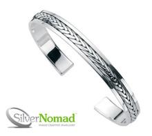 Silver Nomad Eternal Weave Bangle