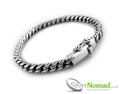 Silver Nomad UK - S-Link Bracelet for Men.  925 crafted sterling silver with a unique link and lock in clasp.