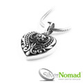 Silver Nomad Love Scroll Pendant