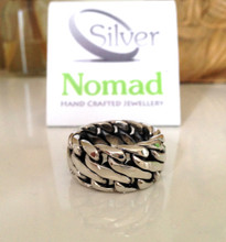 925 Sterling Silver Nomad Double Curb Ring