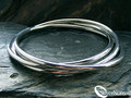 Sterling Silver Nomad 3 piece Russian Wedding Bangle