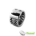 925 Sterling Silver Nomad Abstract Curb Band (Front View)