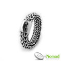 925 Sterling Silver Nomad Rounded Snake Weave Ring