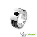 925 Sterling Silver Nomad Triple Tulang Naga Snake Weave Ring Band